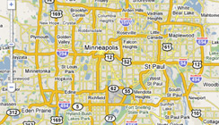 Map of Twin Cities